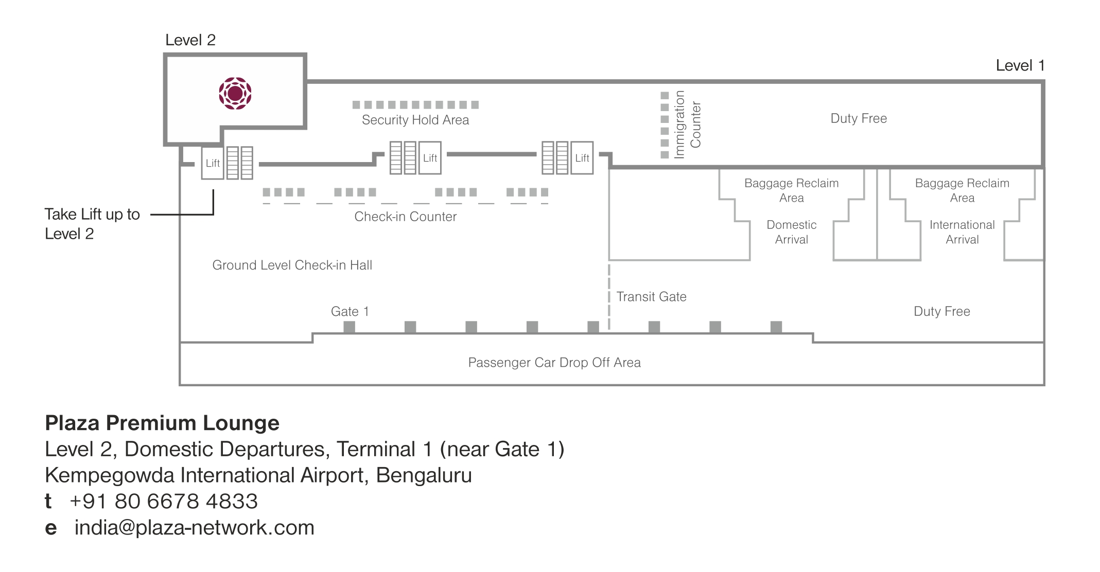 "Location of ""Day-Hotel"" at Bangalore International Airport"